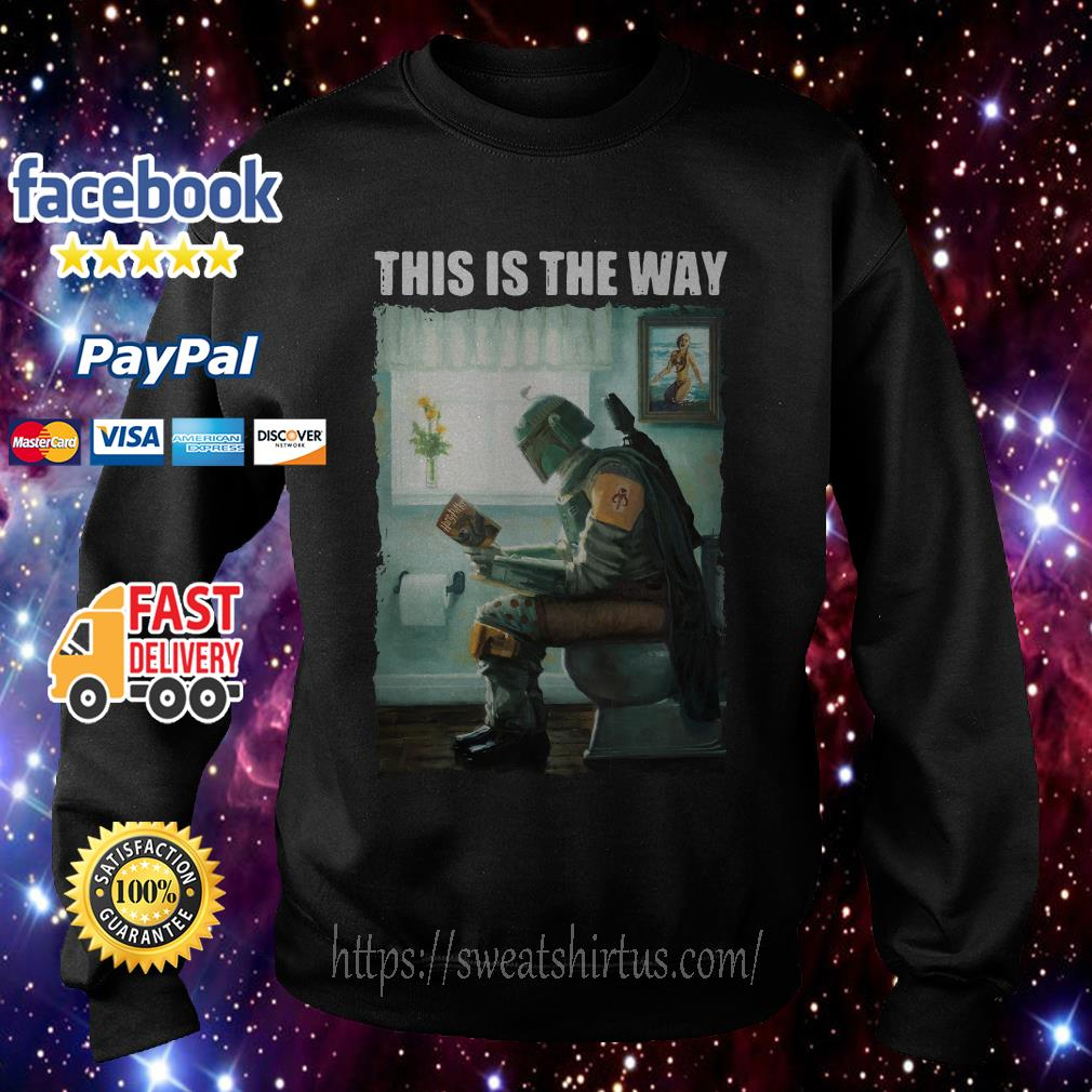 The Mandalorian this is the way reading Harry Potter Sweater
