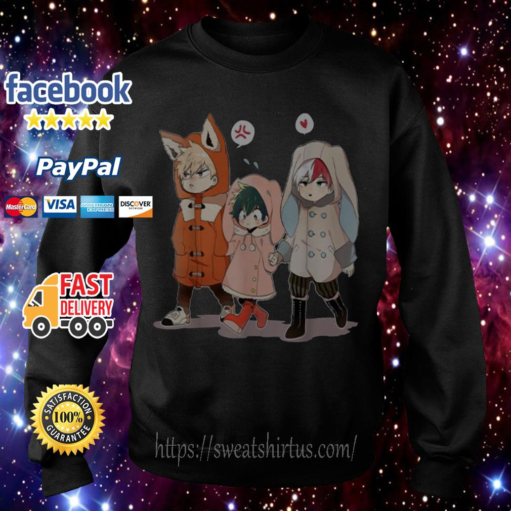 Todoroki and Midoriyas Bakugou Chibi Sweater