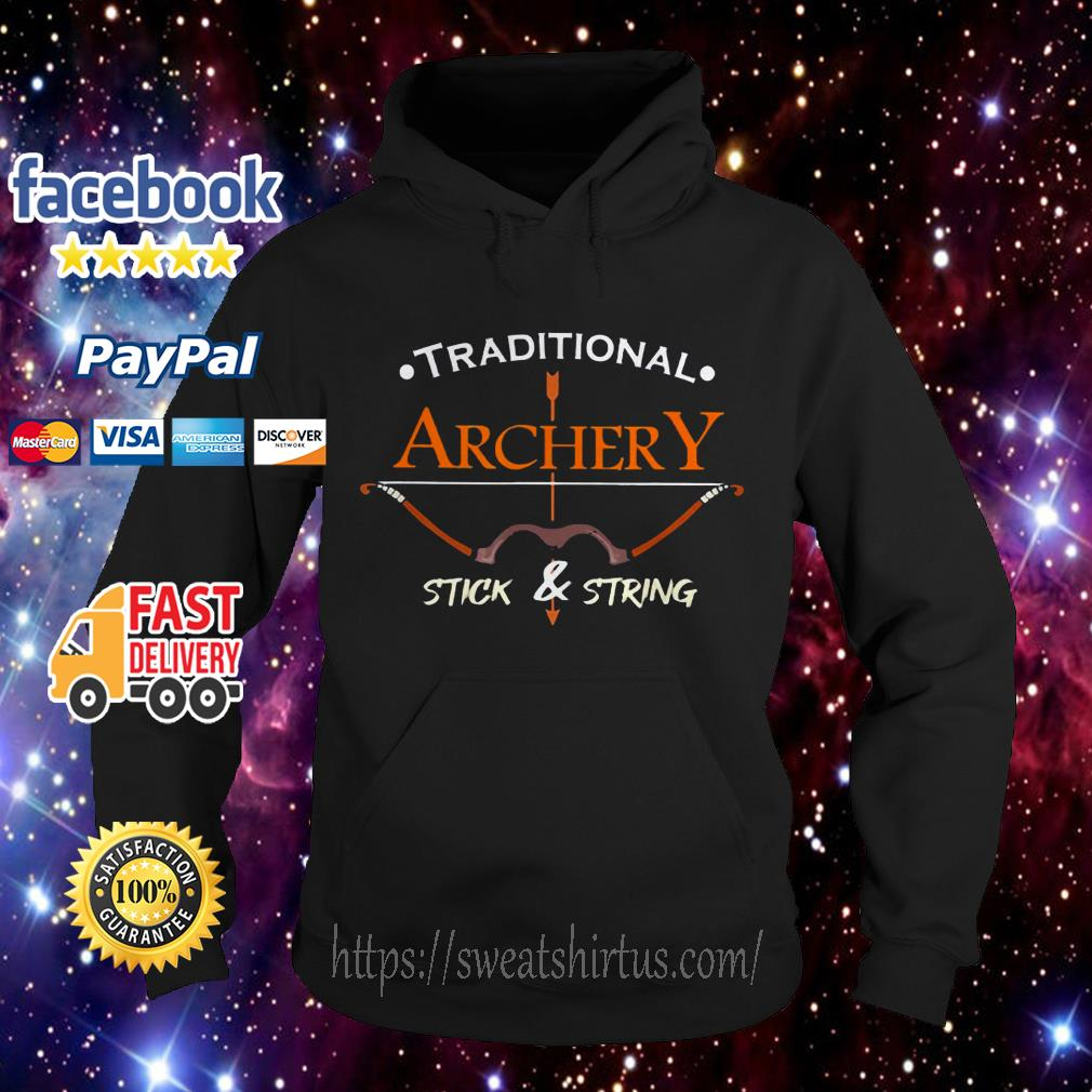 Traditional Archery Stick and String Hoodie