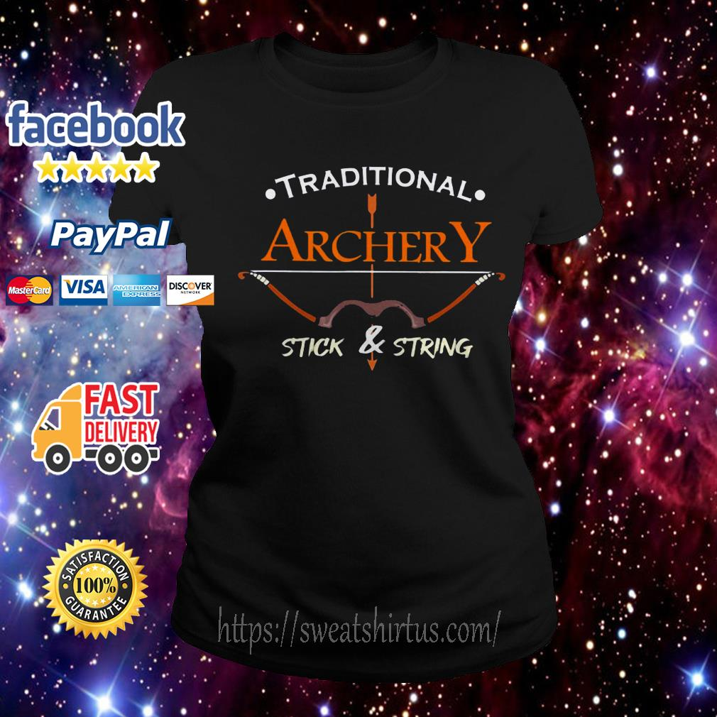 Traditional Archery Stick and String  Ladies Tee