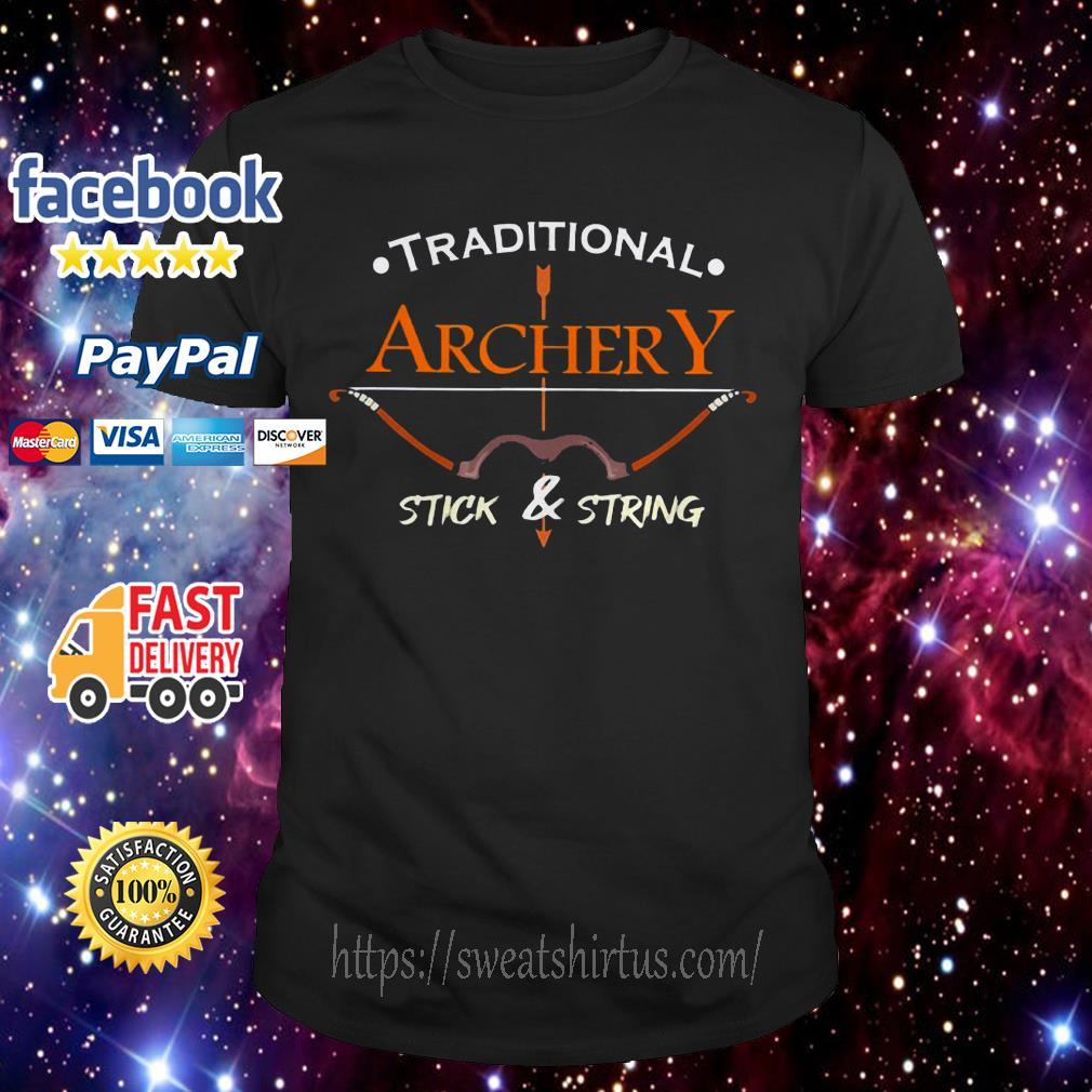 Traditional Archery Stick and String shirt