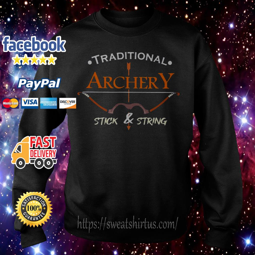 Traditional Archery Stick and String Sweater