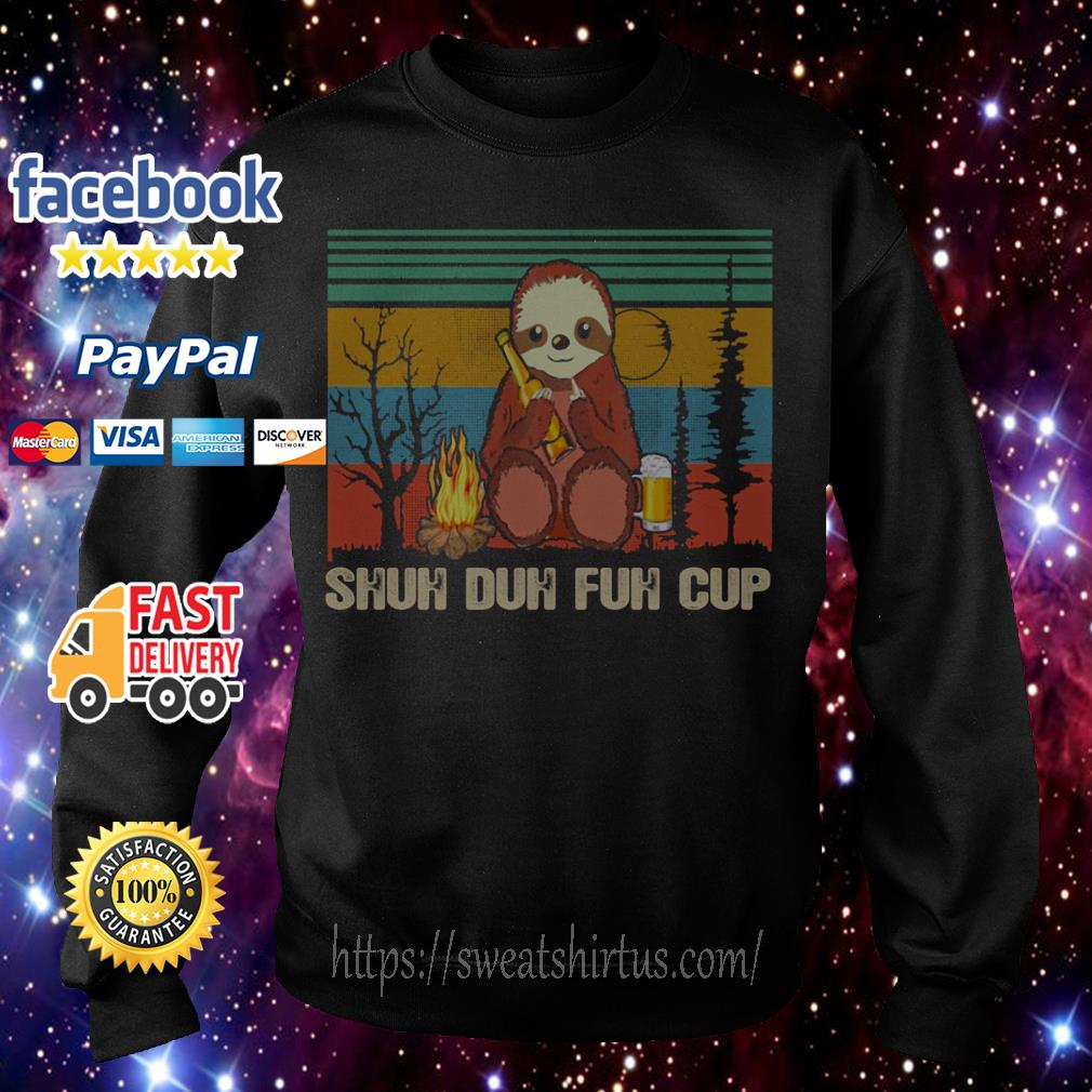 Vintage Sloth Shuh Duh Fuh Cup Sweater