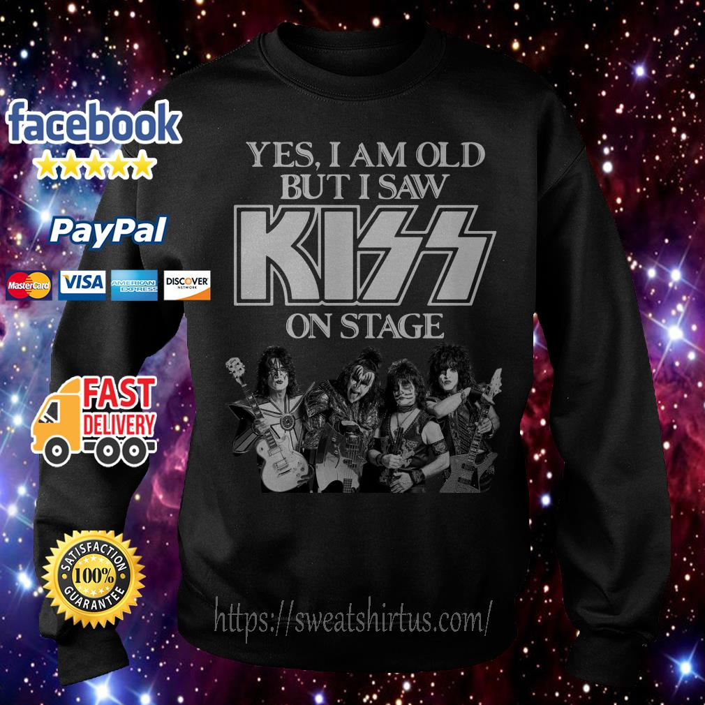 Yes I am old but I saw Kiss on stage Sweater