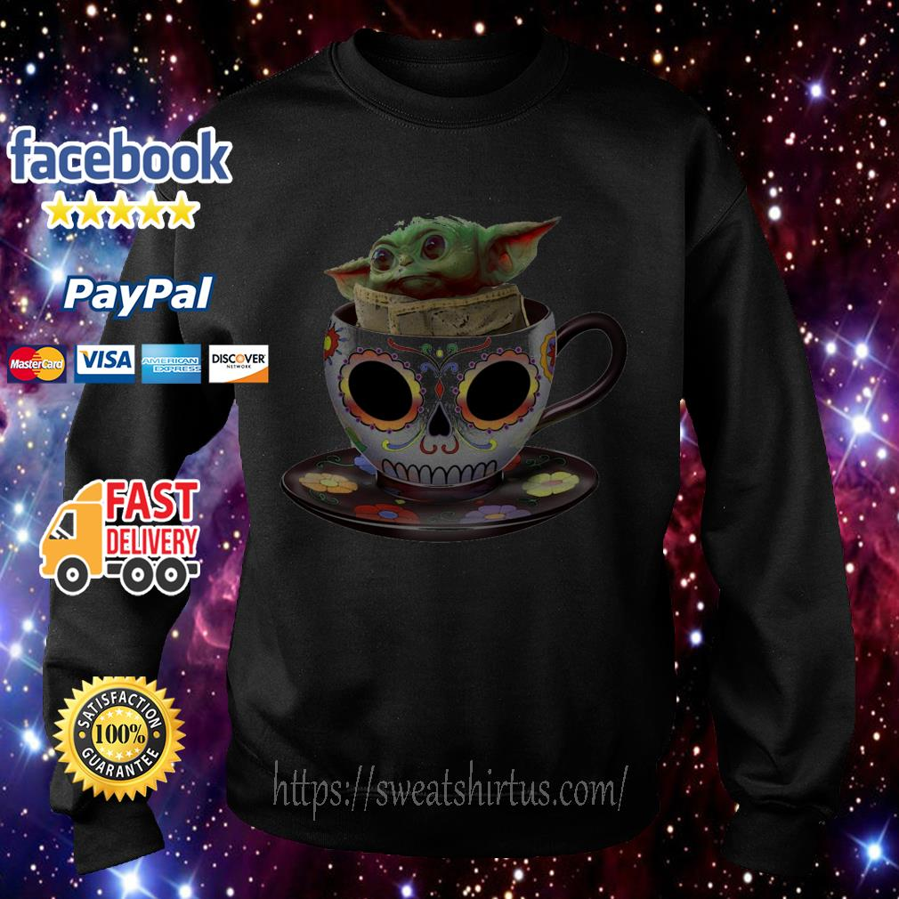 Baby Yoda sugar skull coffee cup Sweater