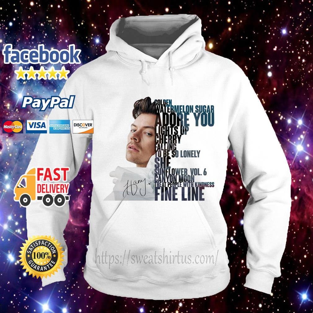 Harry Styles golden watermelon sugar adore you lights up cherry falling Hoodie