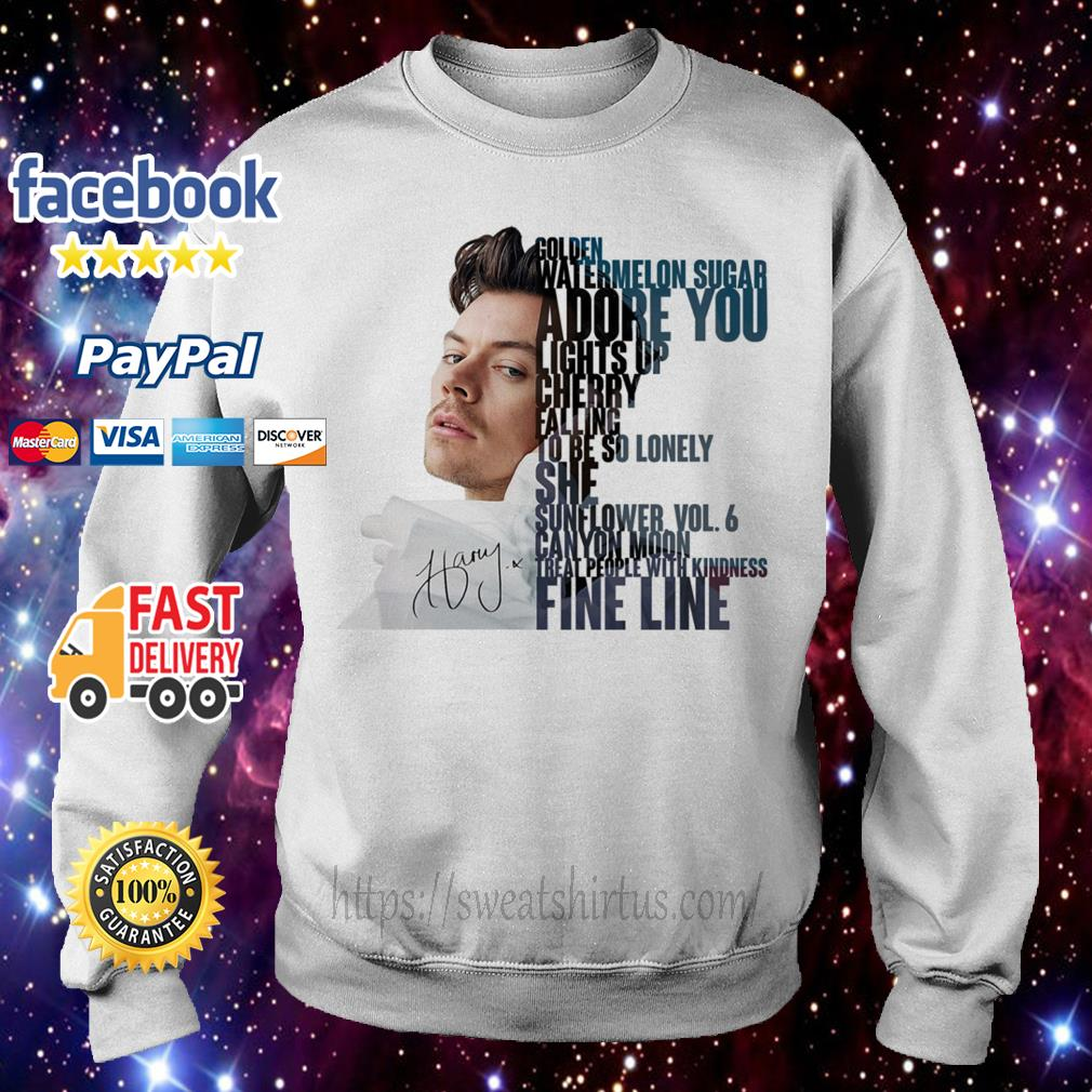 Harry Styles golden watermelon sugar adore you lights up cherry falling Sweater