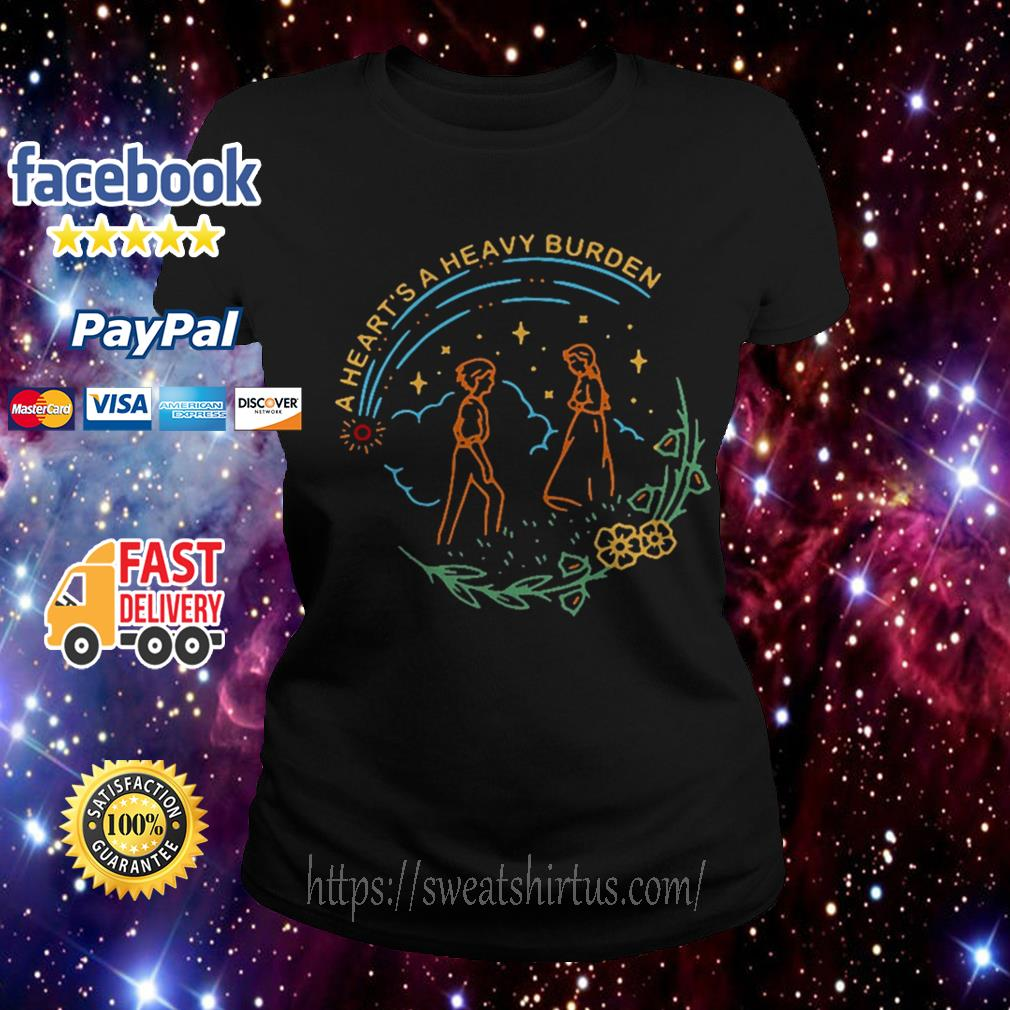 Howl and Sophie a heart's a heavy burden Ladies Tee