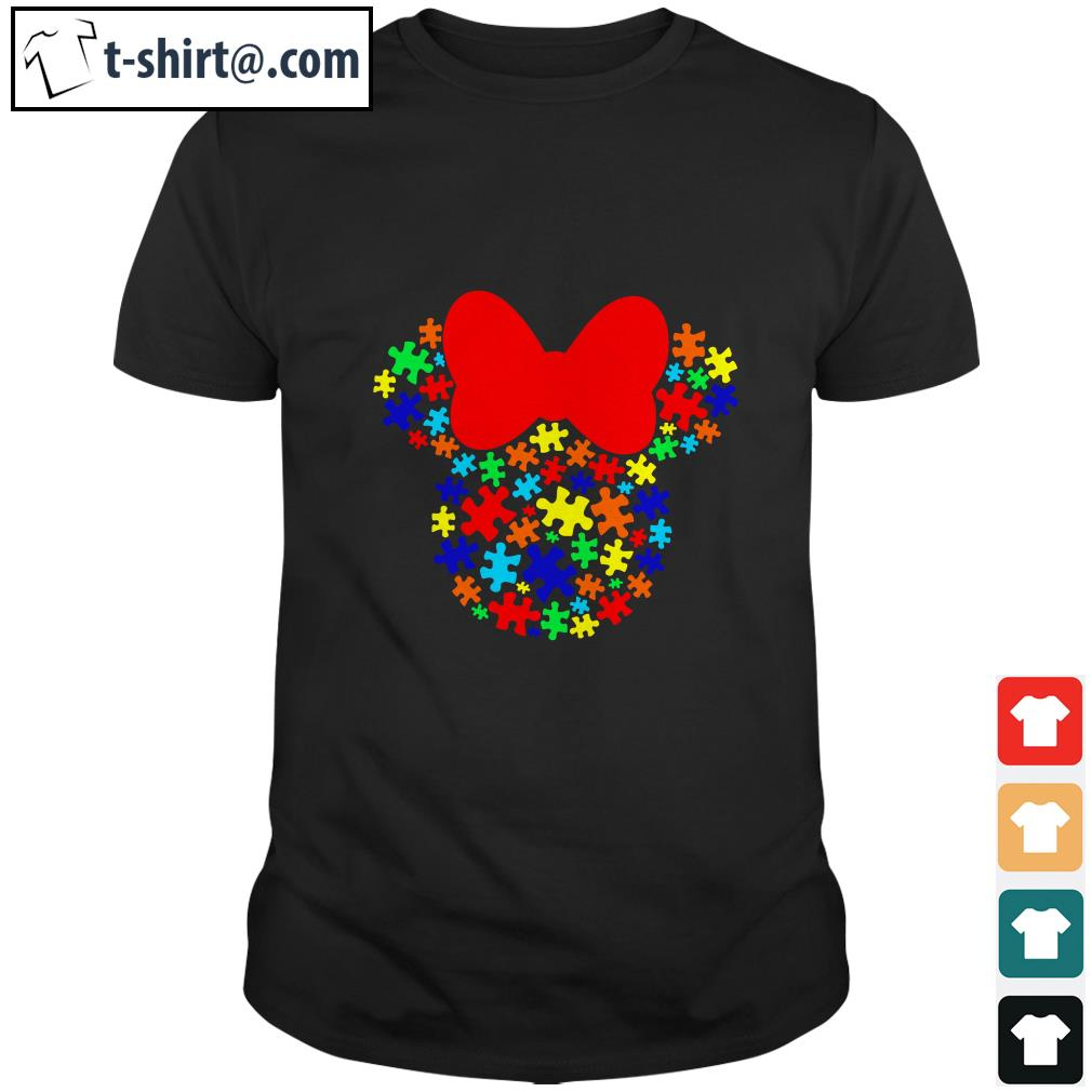 Autism Awareness Minnie mouse shirt