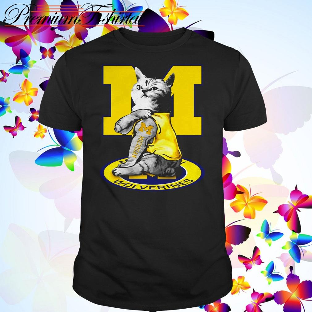 Cat I love Michigan Wolverines shirt