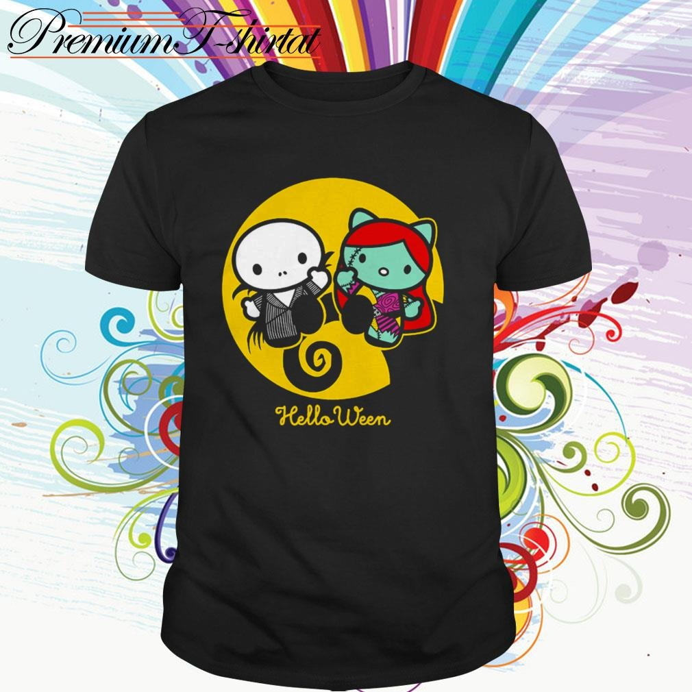 Hello Kitty Jack Skellington and Sally helloween shirt