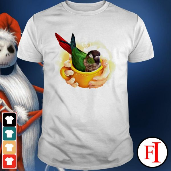 Love Parrot in a cup of Conure IF shirt