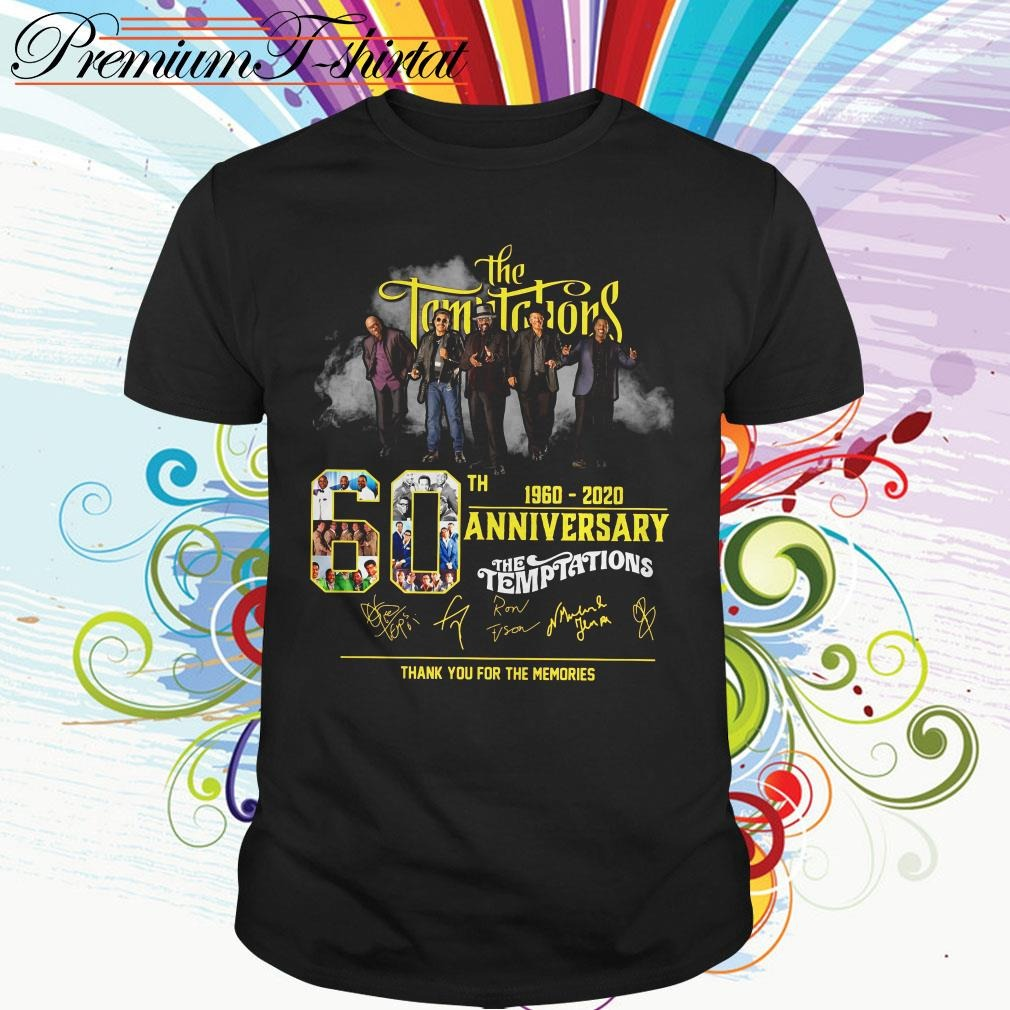 The Temptations 60th 1960-2020 anniversary thank you for the memories signatures shirt