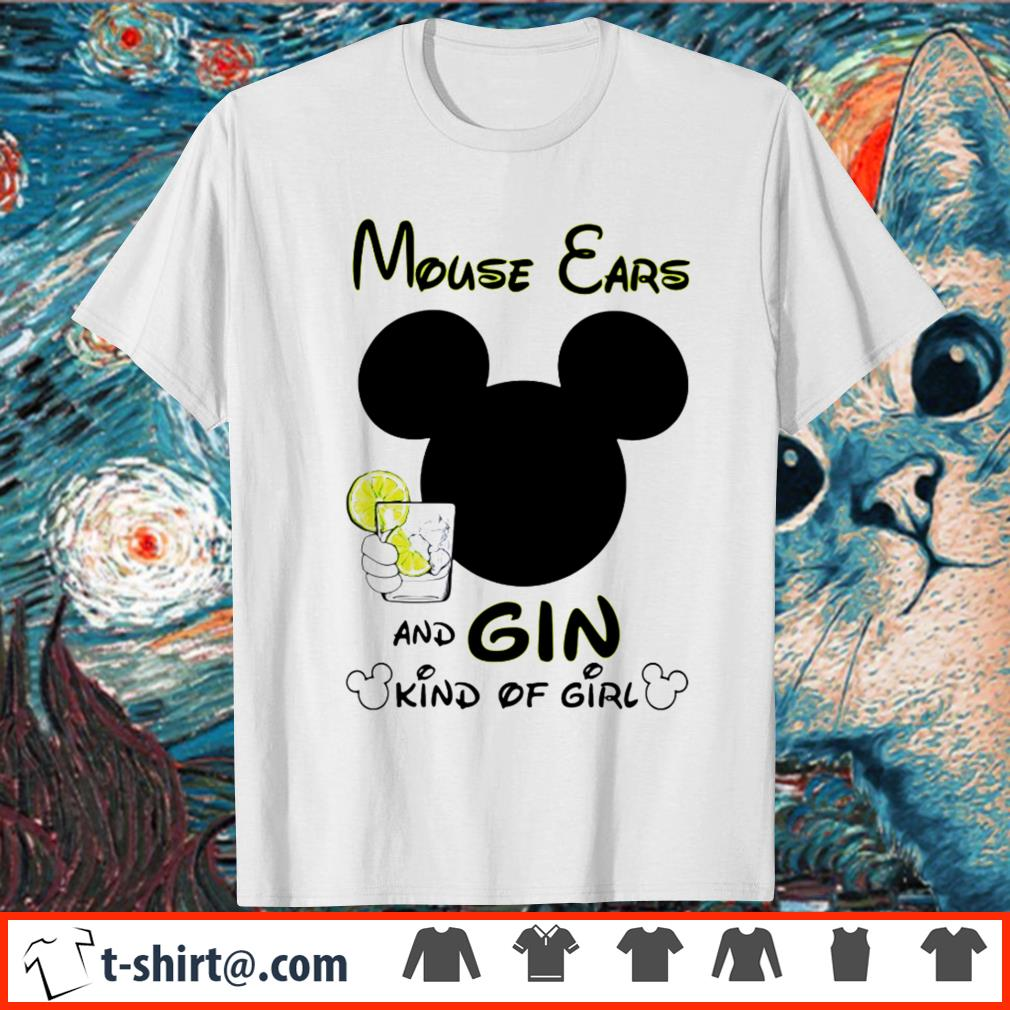 Mouse ears and Gin kind of girl shirt