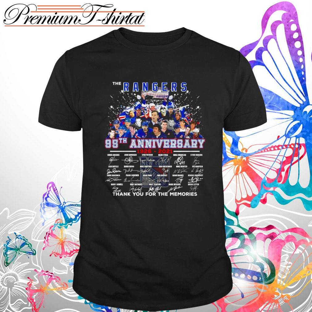 The New York Rangers 95th Anniversary 1926-2021 thank you for the memories shirt