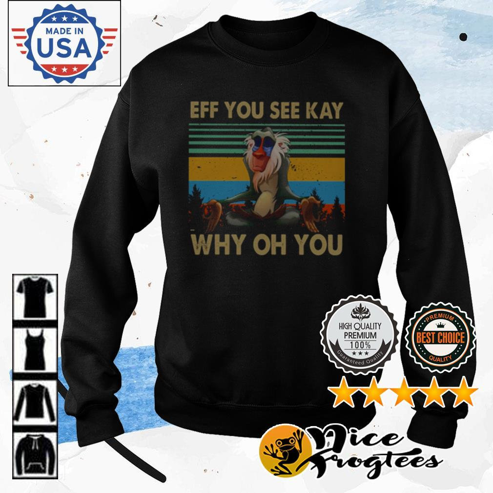 Yoga Monkey eff you see kay why oh you vintage shirt