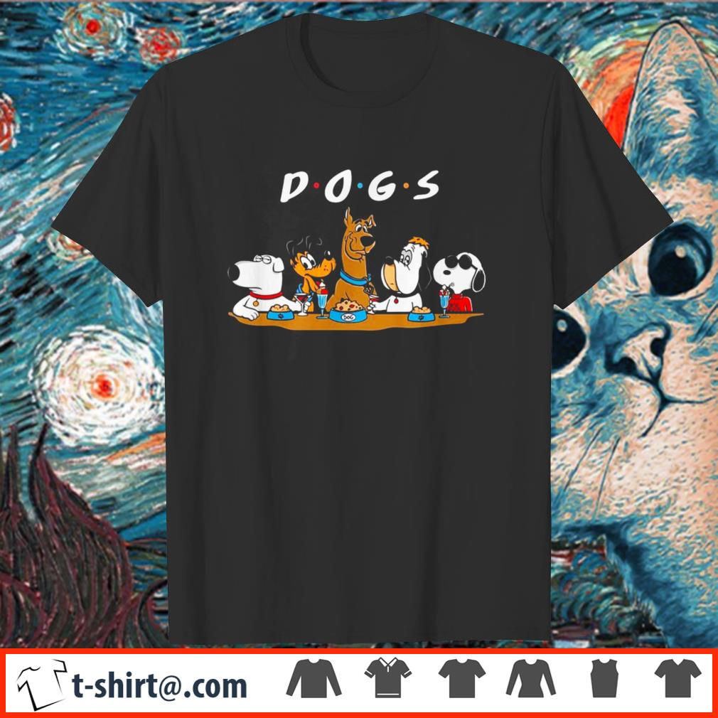 Dogs Party Friends tv shirt