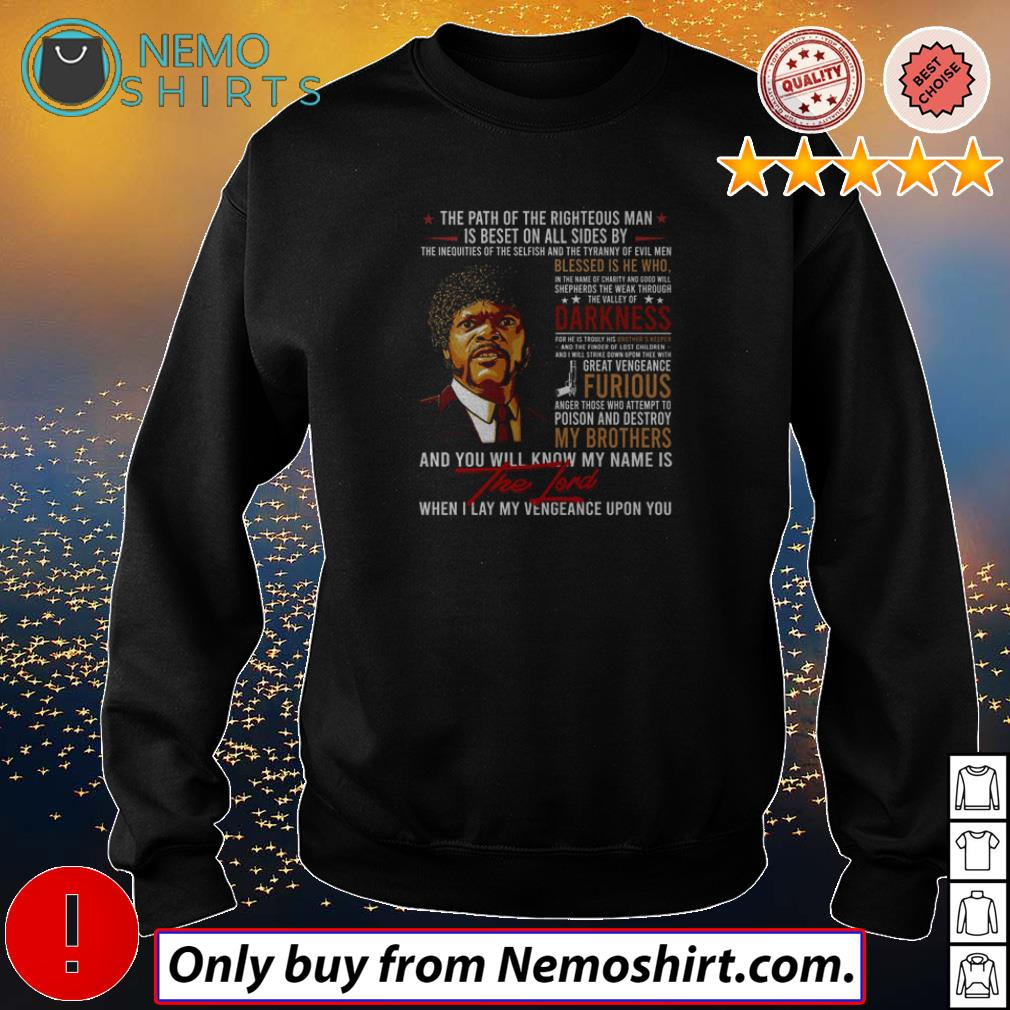 Top Jules Winnfield you will know my name is the lord when I lay my vengeance upon you shirt