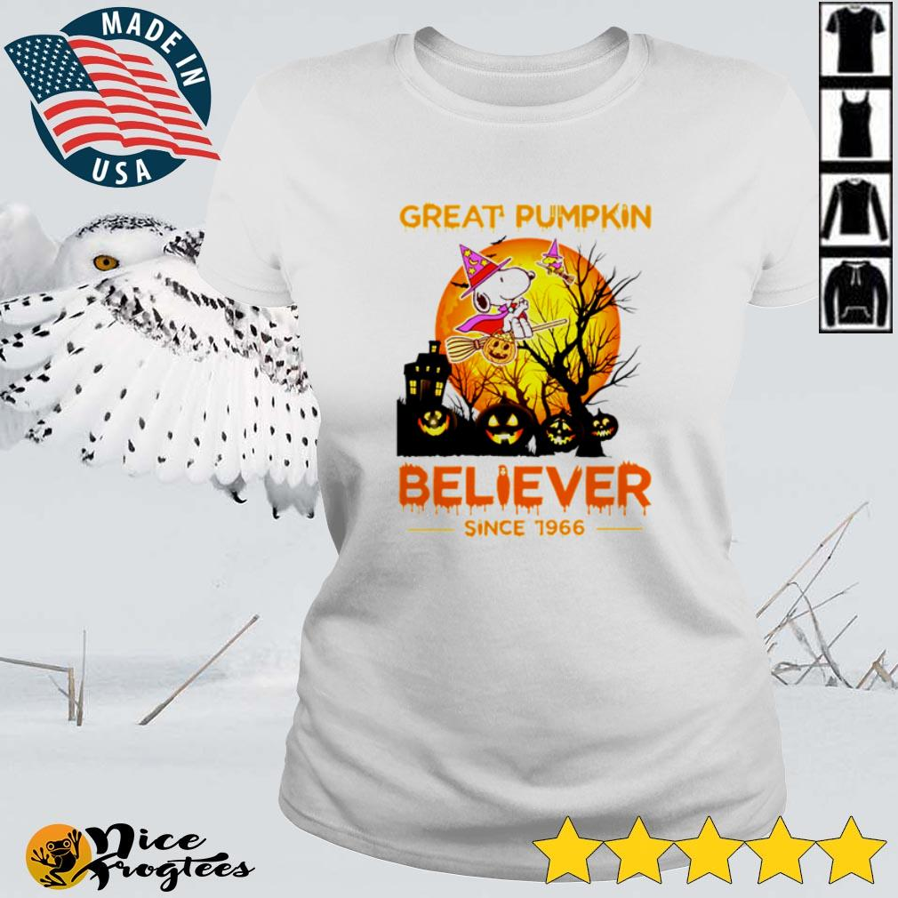 Halloween Snoopy great pumpkin believer since 1966 shirt