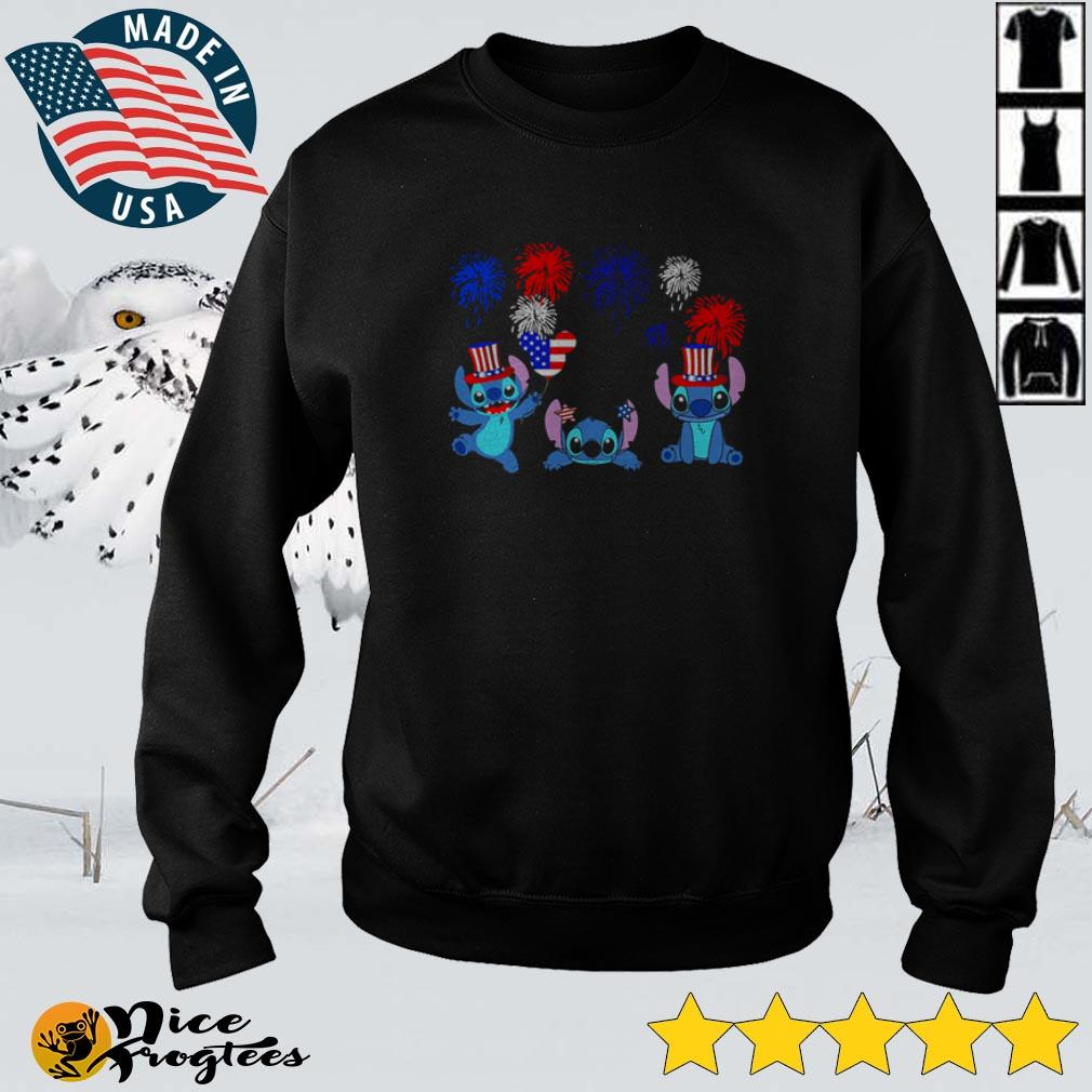 Stitch 4th of July Independence Day Firework America Flag shirt