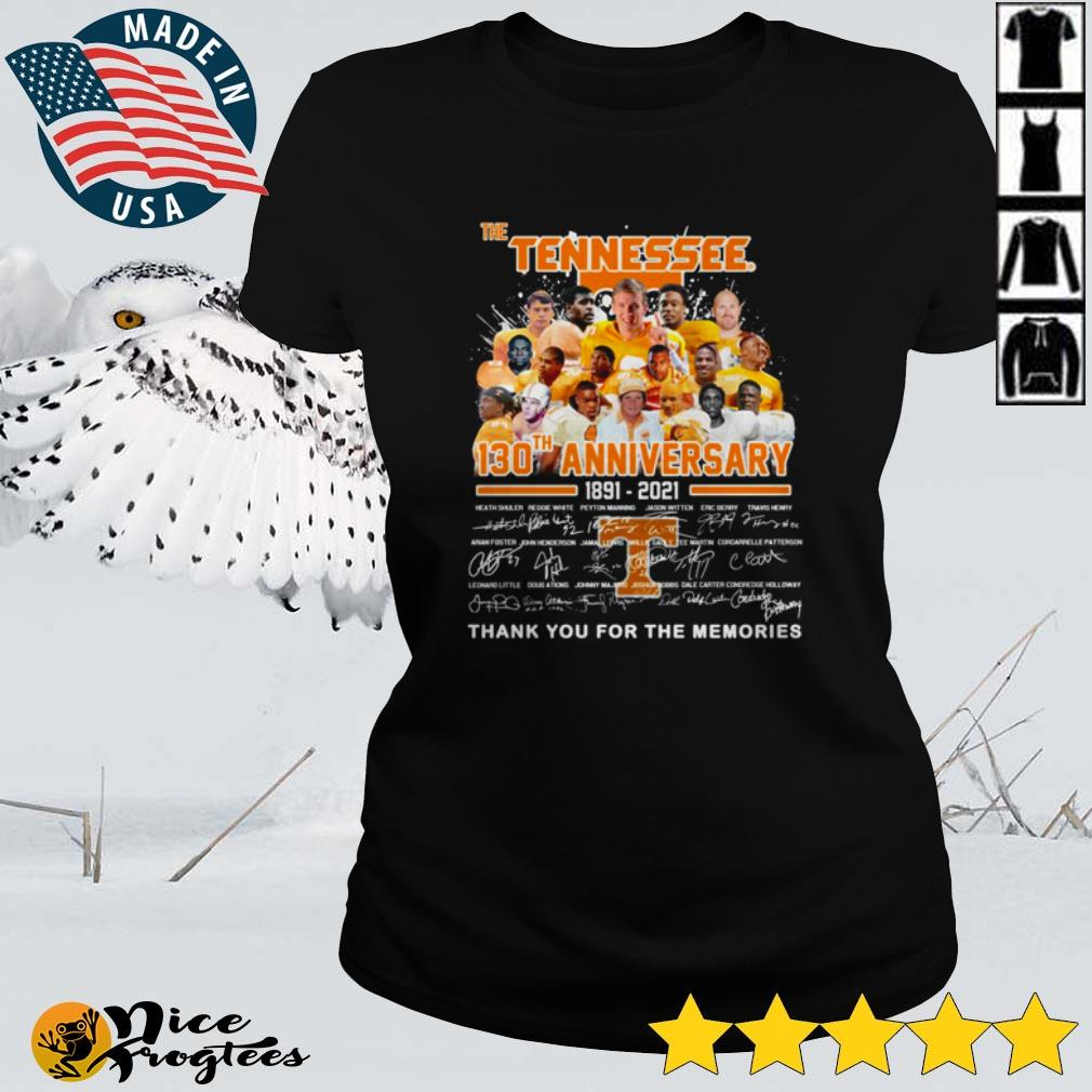 The Tennessee 130th anniversary thank you for the memories shirt